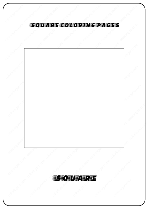 square coloring page