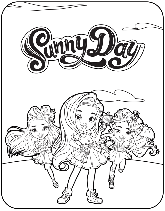 Free Printable Sunny Day Coloring Pages