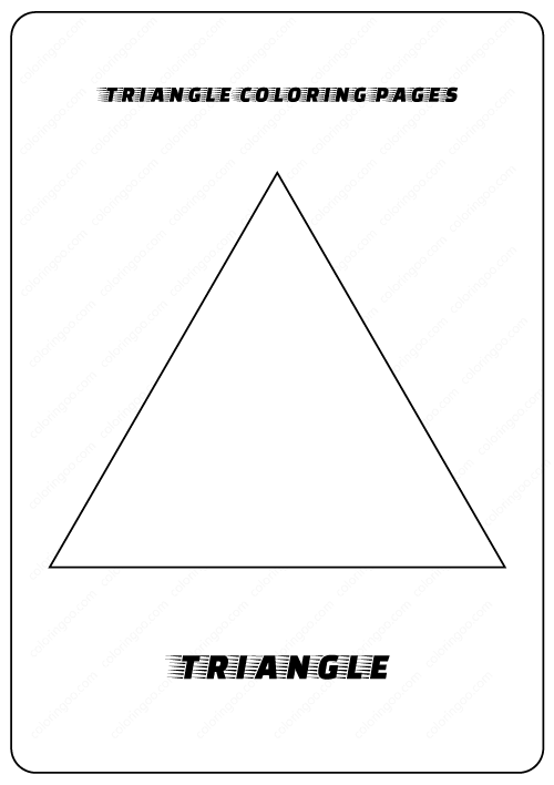triangle coloring page (1) | Crafts and Worksheets for Preschool ... | 708x500