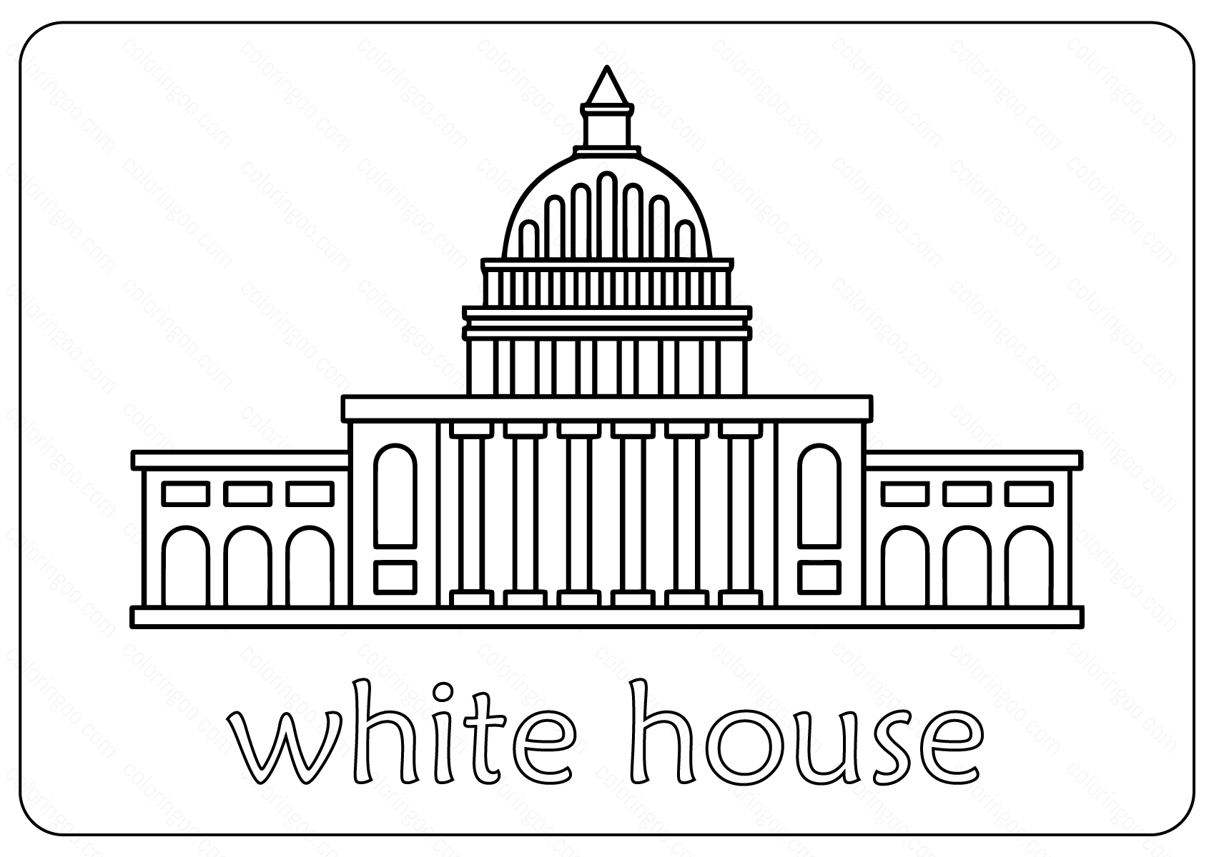 Free Printable White House Coloring Pages & Vector