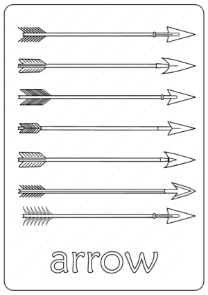 Free Printable Arrow Outline Coloring Page