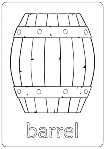 Free Printable Barrel Outline Coloring Page