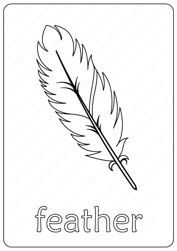 - Free Printable Feather Outline Coloring Page