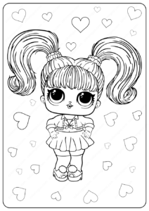 Free Printable LOL Surprise Oops Baby Coloring Pages