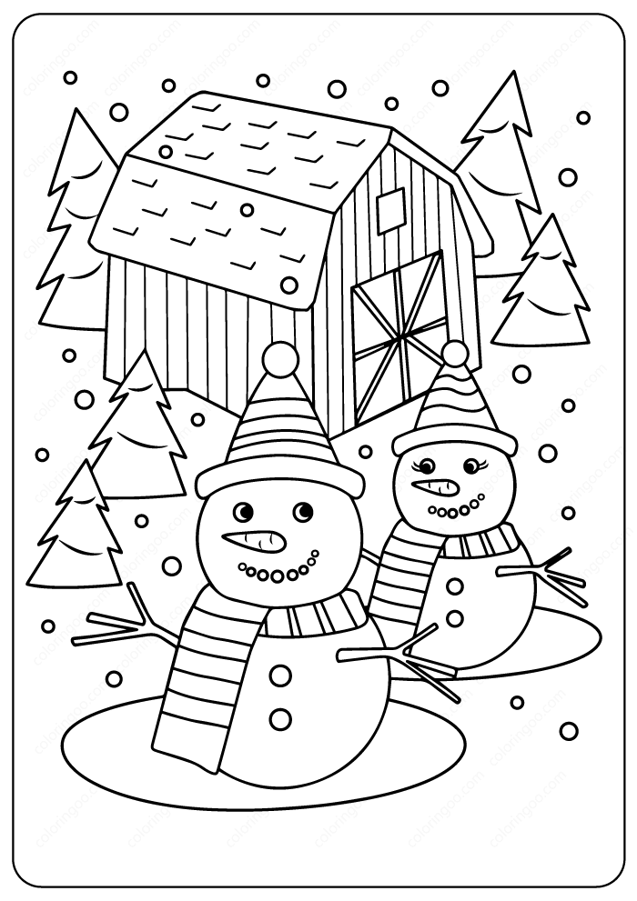 Printables Merry Christmas Coloring Pages