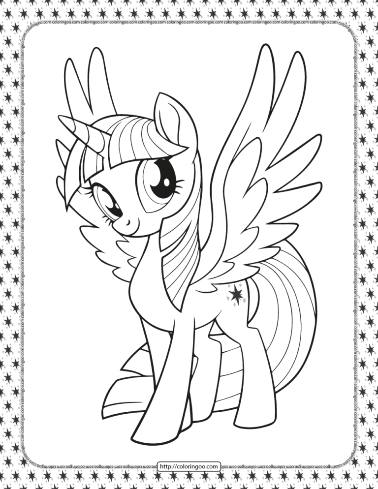Printable My Little Pony Twilight Sparkle Coloring Pages