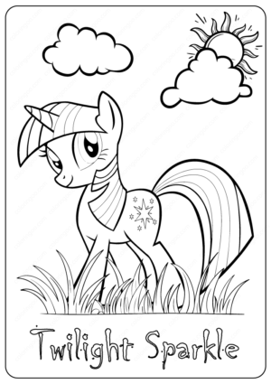 My Little Pony Twilight Sparkle Coloring Page