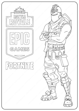 Free Printable Fortnite Black Knight Skin Coloring Pages