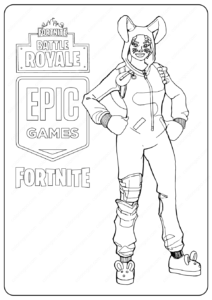 Free Printable Fortnite Bunny Brawler Skin Coloring Pages