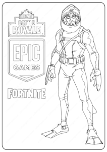 Free Printable Fortnite Chomp Senior Skin Coloring Pages