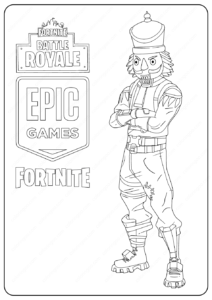Free Printable Fortnite Crackshot Skin Coloring Page