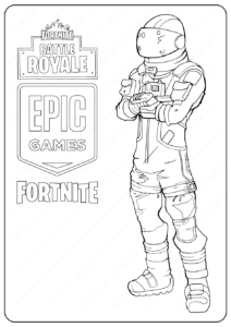 Free Printable Fortnite Dark Voyage Skin Coloring Pages