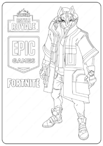 Free Printable Fortnite Drift Skin Coloring Pages