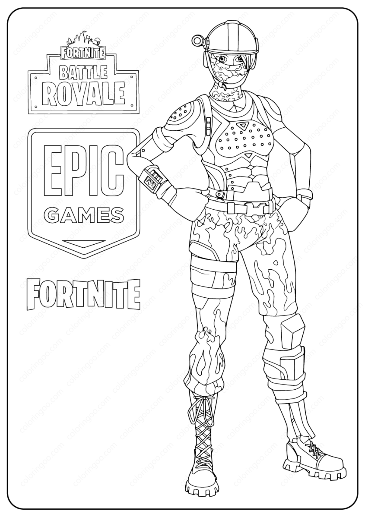 Fortnite Skins To Colour Free Printable Fortnite Elite Agent Skin Coloring Pages