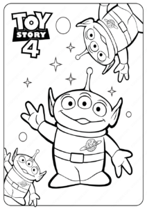 Free Printable Toy Story Aliens PDF Coloring Pages