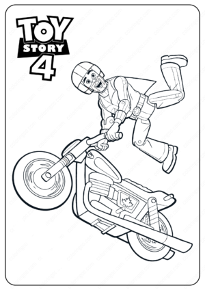 Free Printable Toy Story 4 Duke Caboom PDF Coloring Pages