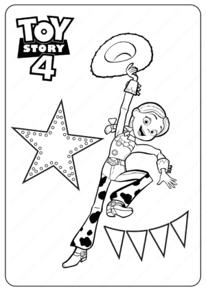 Free Printable Toy Story 4 Jessie PDF Coloring Pages