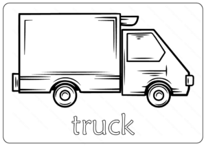 Free Printable Truck Outline Coloring Page