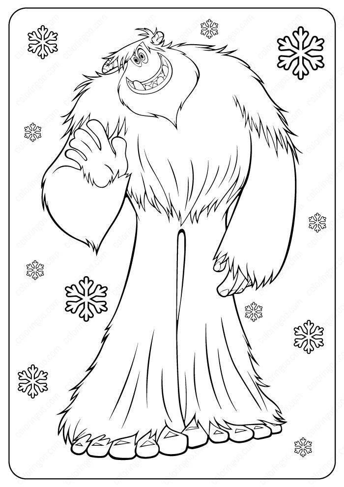 Free Printable Yeti (Bigfoot) Coloring Pages