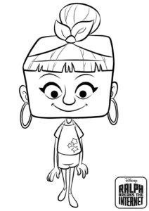 Disney Woman Net User Coloring Page