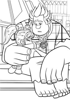 Vanellope and Upset Ralph Coloring Pages