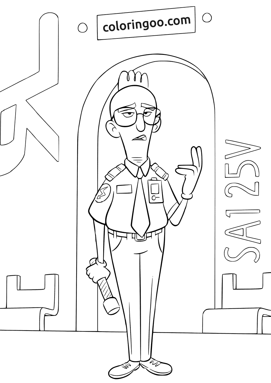 Wreck It Ralph 2 Page Admin Bot Coloring Page