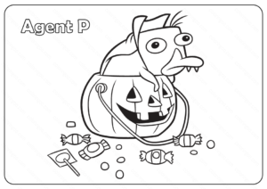 Agent Perry The Platypus Halloween Coloring Pages
