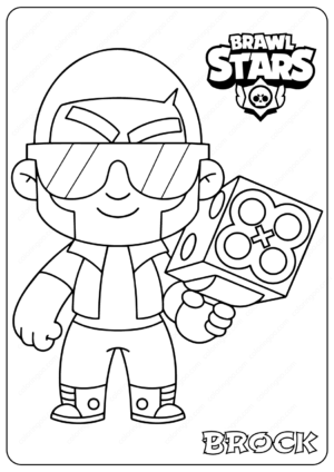 Printable Brawl Stars (Brock) PDF Coloring Pages