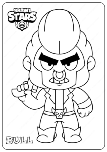 Printable Brawl Stars (Bull) PDF Coloring Pages