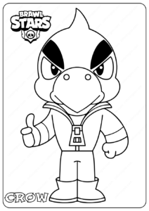 Printable Brawl Stars (Crow) PDF Coloring Pages