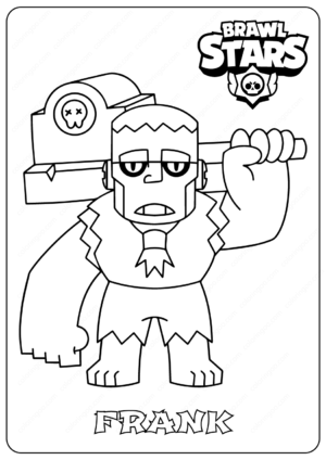 Printable Brawl Stars (Frank) PDF Coloring Pages
