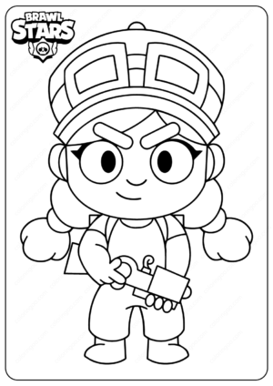 Printable Brawl Stars (Jessie) PDF Coloring Pages