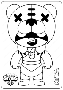 Printable Brawl Stars (Nita) PDF Coloring Pages