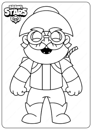 Printable Brawl Stars PDF Coloring Pages