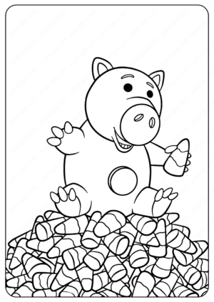 Disney Toy Story Hamm Halloween Coloring Pages
