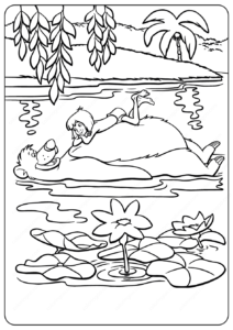 Disney The Jungle Book Mowgli & Baloo Coloring Pages