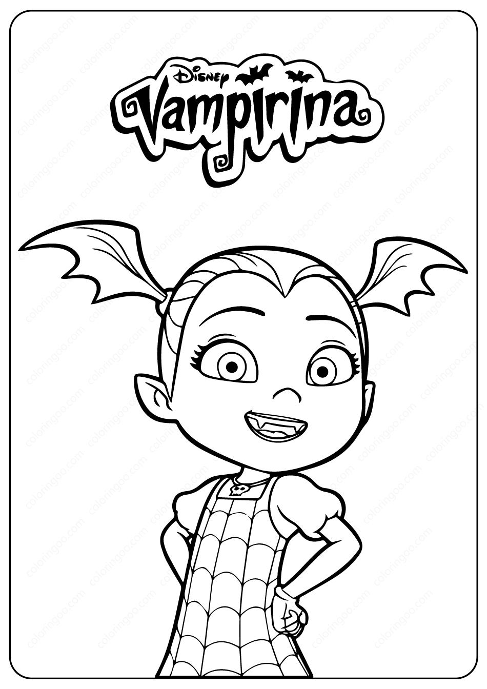 Disney Junior Vampirina PDF Coloring Pages