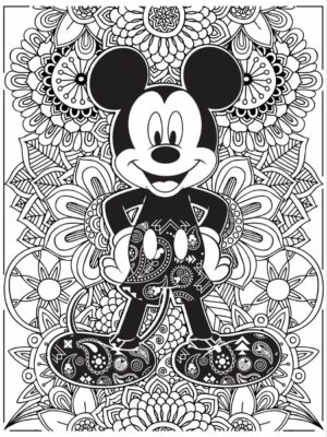 Printable Mickey Mouse PDF Coloring Pages