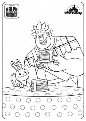 Ralph Breaks The Internet Fun Bun Coloring Pages