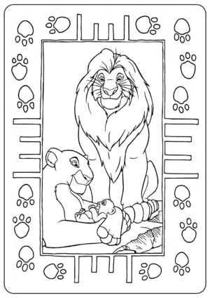 Disney The Lion King Family Coloring Pages