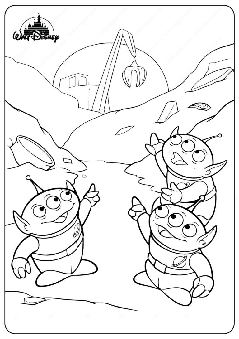 - Disney Toy Story Aliens PDF Coloring Pages