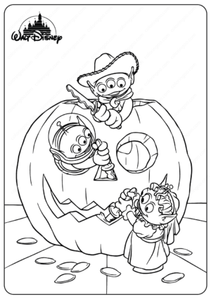 Disney Toy Story Aliens Halloween Coloring Pages