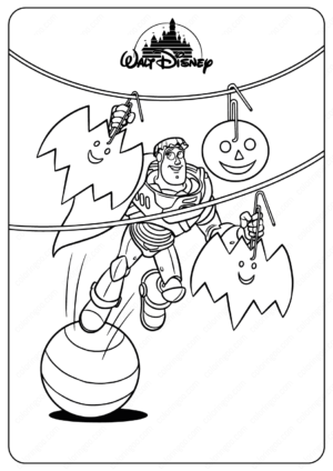 Disney Toy Story Buzz Halloween Coloring Pages