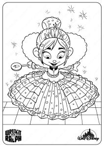 Printable Disney Princess Vanellope Coloring Pages