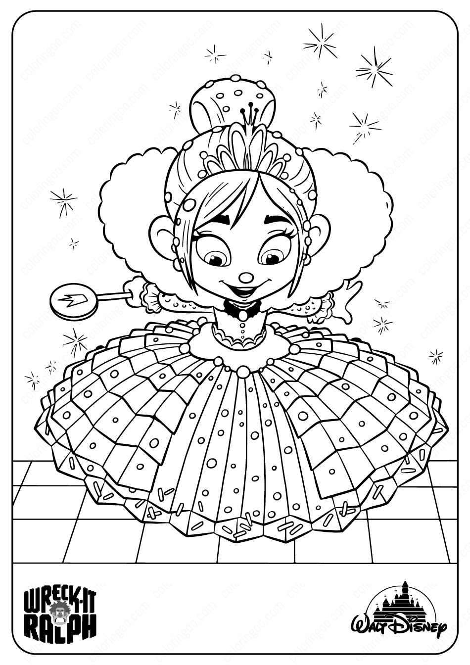 Printable Disney Princess Vanellope Coloring Pages