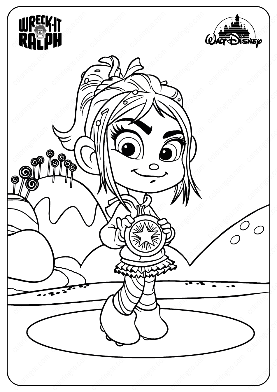 Disney Wreck It Ralph Vanellope Coloring Pages