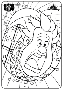 Printable Disney Wreck It Wifi Ralph Coloring Pages