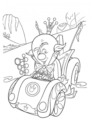 Disney King Candy Racing Coloring Pages
