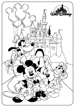 Disney Minnie & Mickey Mouse Coloring Pages