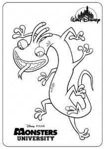 Printable Monsters Randall PDF Coloring Pages